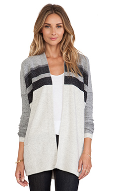 Vince Varigated Marl Oversized Cardigan in Heather Cloud