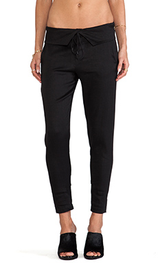Vince Folded Waist Trouser in Black