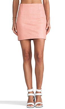 Viparo Harley Short Leather Skirt in Pink