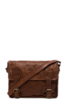 Viparo Gustaf Vintage Washed Messenger Bag in Tan