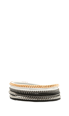 Vita Fede Capri 5 Wrap Bracelet in Multi/Black/White