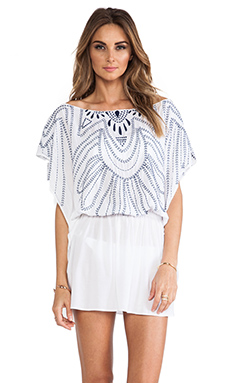 Sofia by Vix Swimwear Butterfly Caftan in Solid White