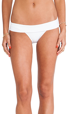 Vix Swimwear California Cut Bottom in Solid White
