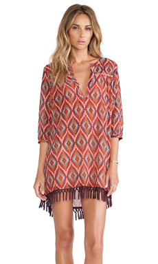 Sofia by Vix Swimwear Lakai Kazan Fringe Caftan in Multi