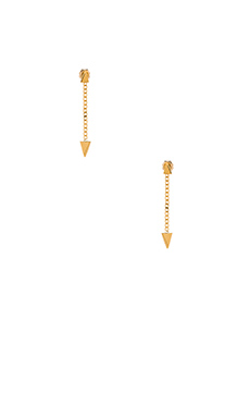 Vanessa Mooney Stardust Chain Earrings in Gold