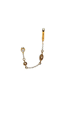 Vanessa Mooney Hologram Ear Cuff in Gold