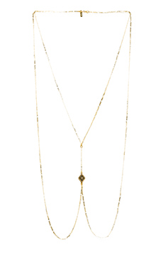 Vanessa Mooney Diamond Lace Body Chain in Gold