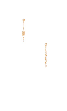 Vanessa Mooney Existence Earrings in Gold