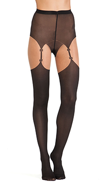 Wolford Shania Tights in Sahara & Black