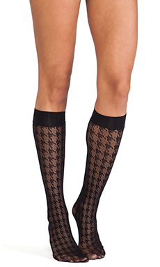 Wolford Pascale Knee-Highs in Black