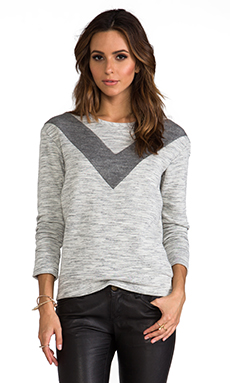 Whetherly Space Dye Pullover in Grey/Creme
