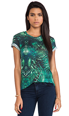 Whetherly Tropical Print Allen II Tee in Teal