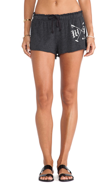 Wildfox Couture Polo Club Short in Clean Black