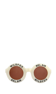 Wildfox Couture Bel Air Sunglasses in Pearl White/Brown Gradient