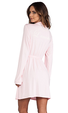 Wildfox Couture Never Get Dressed Robe/White in Pink