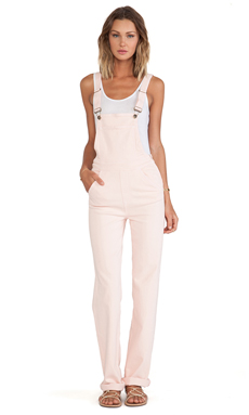 Wildfox Couture Ladonna High-Rise Straight Overall en Rose Bud