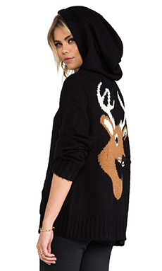 Wildfox Couture Dear Cabin Hoodie in Clean Black