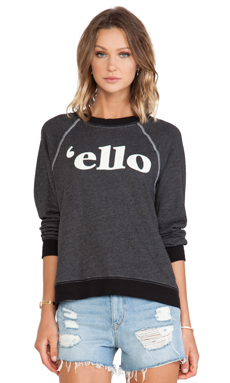 Wildfox Couture 'Ello Pullover in Clean Black