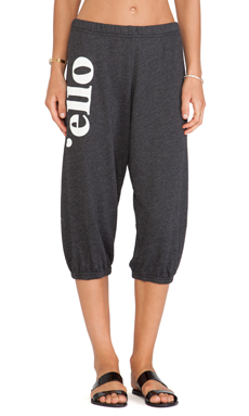 Wildfox Couture 'Ello Sweats in Clean Black
