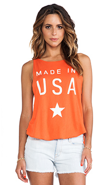 Wildfox Couture Made in the USA Cassidy Tank in Valley Rouge