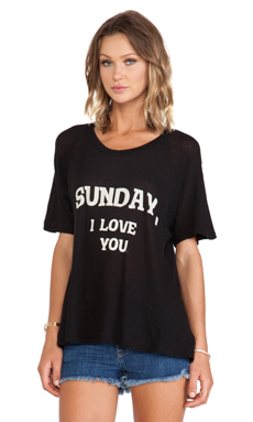Wildfox Couture Dear Sunday Tee in Clean Black