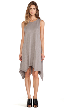 Wilt Slub Shell T Dress in Aluminum