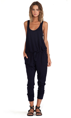 Wilt Slub Tank Jumpsuit en Blue Night