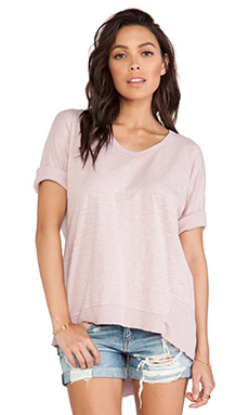 Wilt Slub Dolman Back Slant Top in Carnation