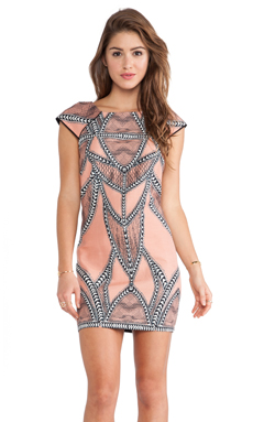 Wish Native Shift Dress in Peach Print