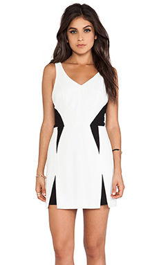 Wish Clash Mini Dress in White