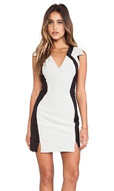 Wish Refined Dress in White Check