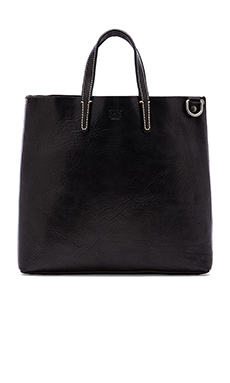 WILL Leather Goods Douglas Tote in Black