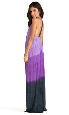 WOODLEIGH Veve Maxi Dress in Eggplant