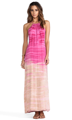 WOODLEIGH Mila Tie Dye Maxi Dress in Fuchsia