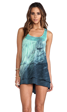 WOODLEIGH Sabrina Tie Dye Mini Dress in Neptune