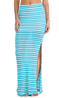 WOODLEIGH Indie Maxi Skirt in Ocean