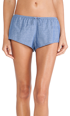 XiRENA Shaya Shorts Chambray in Blue