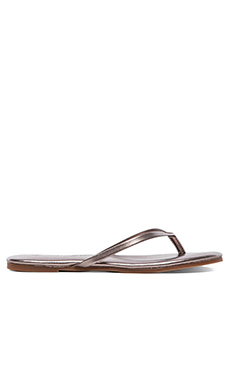 Yosi Samra Rose Metallic Sandal in Pewter
