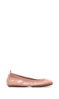 Yosi Samra Soft Patent Leather Fold Up Flat in Rose Cloud