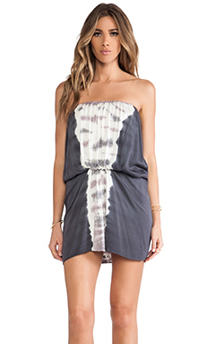Young, Fabulous & Broke Gautier Mini Dress in Charcoal & Lavender Bengal Stripe