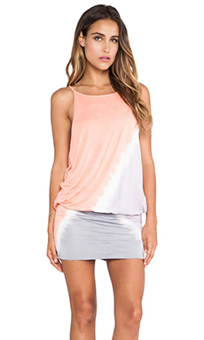 Young, Fabulous & Broke Flip Dress Tri Block in Melon & Lavender