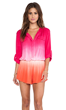 Young, Fabulous & Broke Malik Romper in Berry Ombre