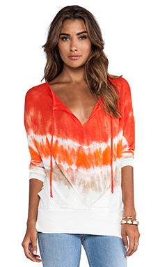 Young, Fabulous & Broke Julien Top in Fire Macaw Wash
