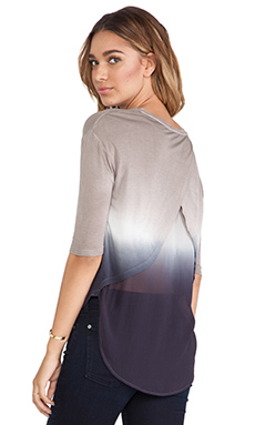 Young, Fabulous & Broke Britt Top in Tan & Black Ombre