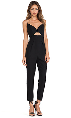 Zimmermann Crepe Plunge Jumpsuit in Black