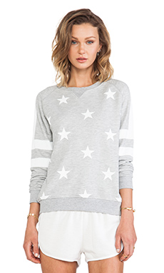 Zoe Karssen Stars All Over Sweater in Grey Heather