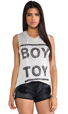Zoe Karssen Boy Toy Tank in Grey Heather