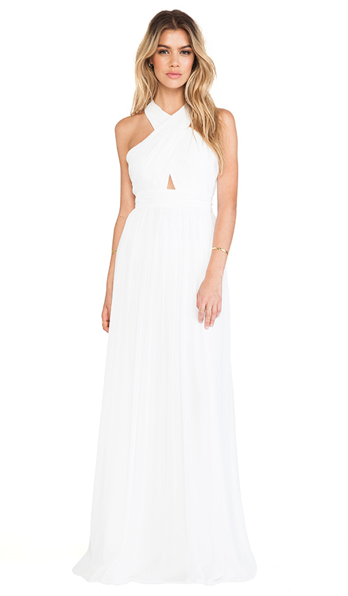 Sale alerts for Alice + Olivia Jaelyn Cross Top Flare Dress - Covvet