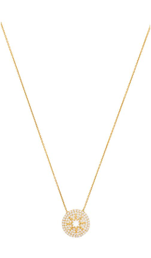 Lucky Star Stargazer Necklace in Metallic Gold