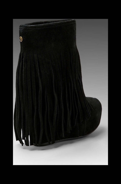 koolaburra veleta fringe wedge boot in black revolve